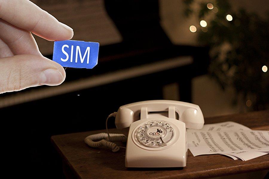 Telephone Fixe Carte Sim Opis 60 Mobile Blanc