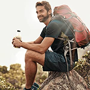 Feed. Smartfood Bouteille homme montagne