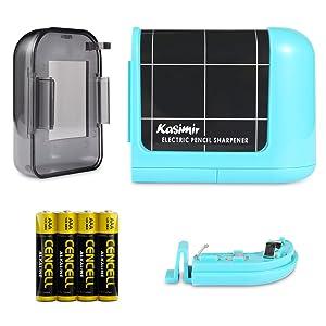Noir Kasimir Taille Crayon Electrique Professionnel Batterie Automatique Taille Crayon /électrique Portable pour Les Enfants /étudiants Artiste Designer Au Bureau De L/école