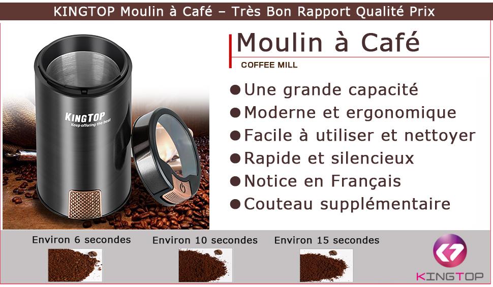 Moulin caf lectrique kingtop 200w broyeur graines de lin s same et autres graines pices - Moulin graines de lin cuisine ...