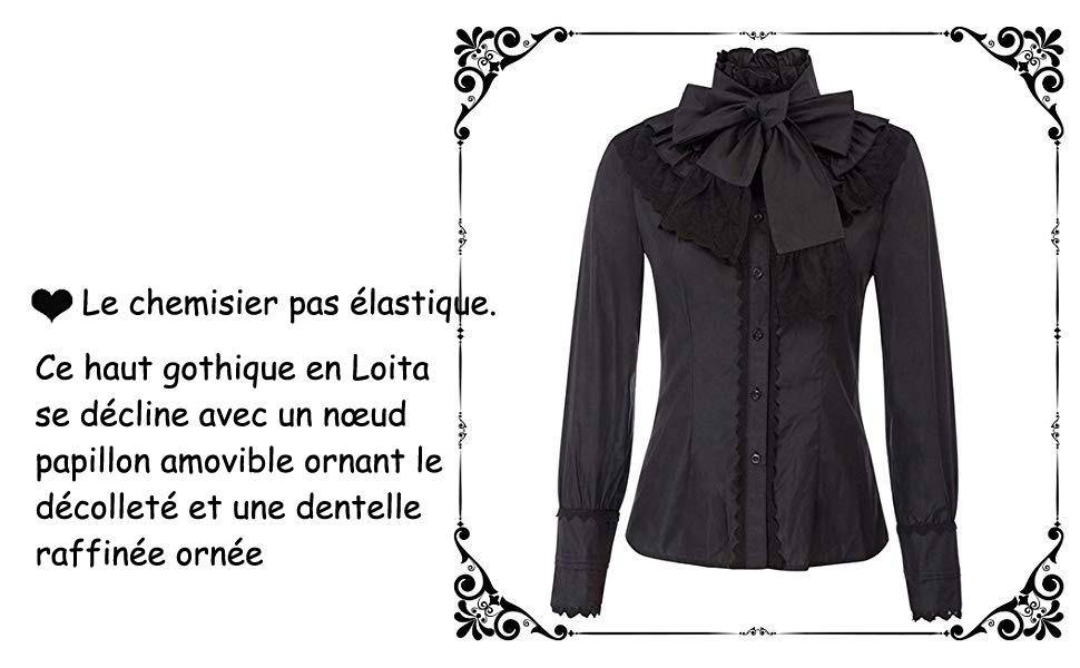Victorien Dentelle Jabot Pirate Vampire Gothic Lolita Col Blanc Noir d/'ivoire Châle