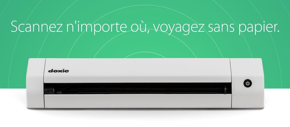 Doxie Go SE Wi-Fi - le plus intelligent scanner de documents A4 Wi-Fi avec  batterie rechargeable et logiciel ultra performant