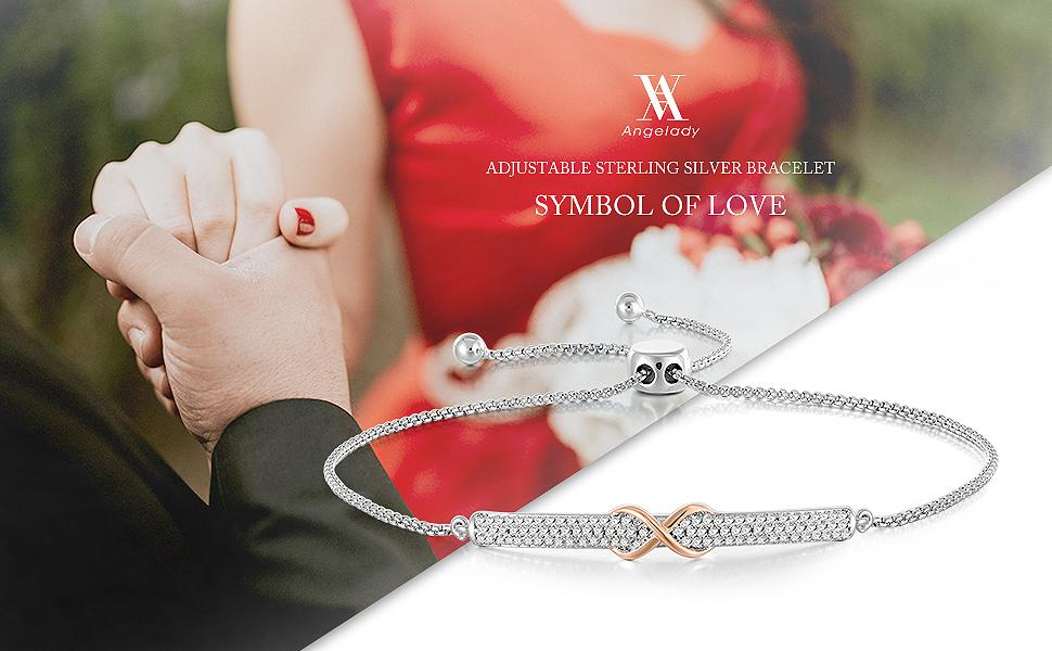 Bracelet femme infini Or Rose r/églable Bijoux Femme Bracelet,Cadeau Anniversaire Cadeau Saint Valentin Noel Action de gr/âces cadeau