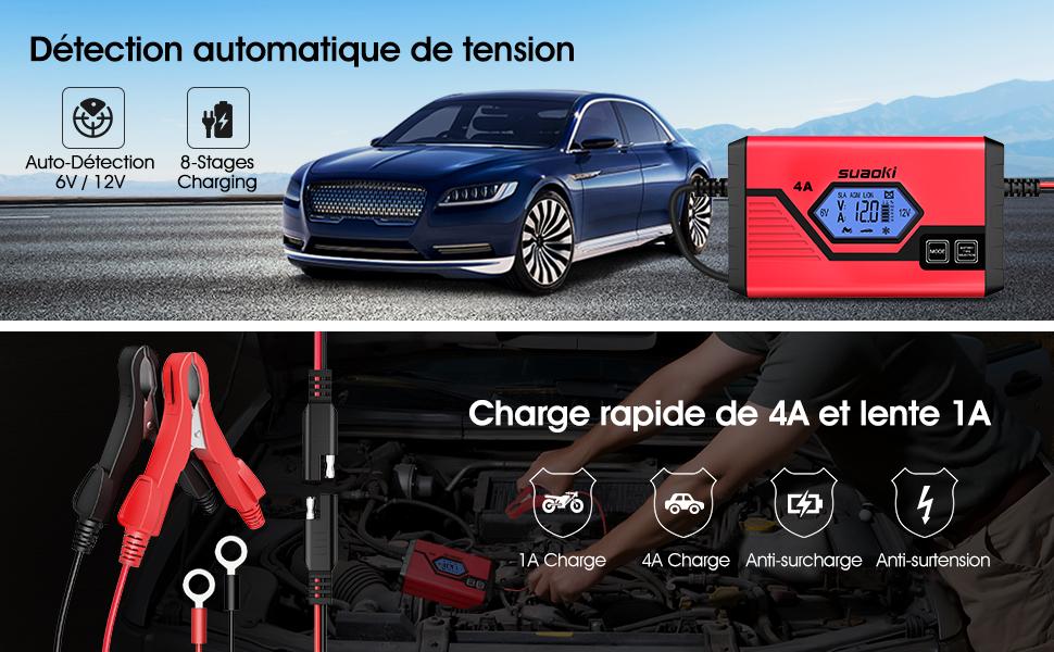 batterie voiture 13.6v