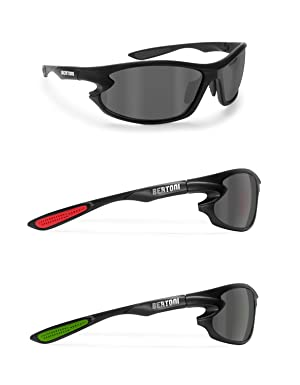 Lunettes de Soleil de Sport Polarisées Photochromiques - Lunettes pour Homme Femme Cyclisme Vtt Vélo Moto Pêche Ski Golf Course – 676 Bertoni (Noir / Photochromique) dGeFaC
