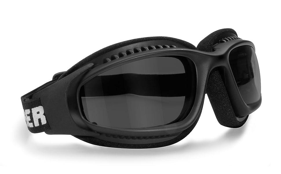 3a10aa3bfd Lunettes pour Moto Antibuee - Mousse de Protection - Bande élastique  ajustable pour Casque - Bertoni