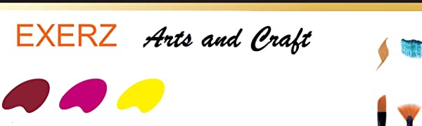 Exerz Lot de 6 Panneaux de Toile/Cartons entoilés/Tableaux en Toile à Peindre / 30 x 24 cm