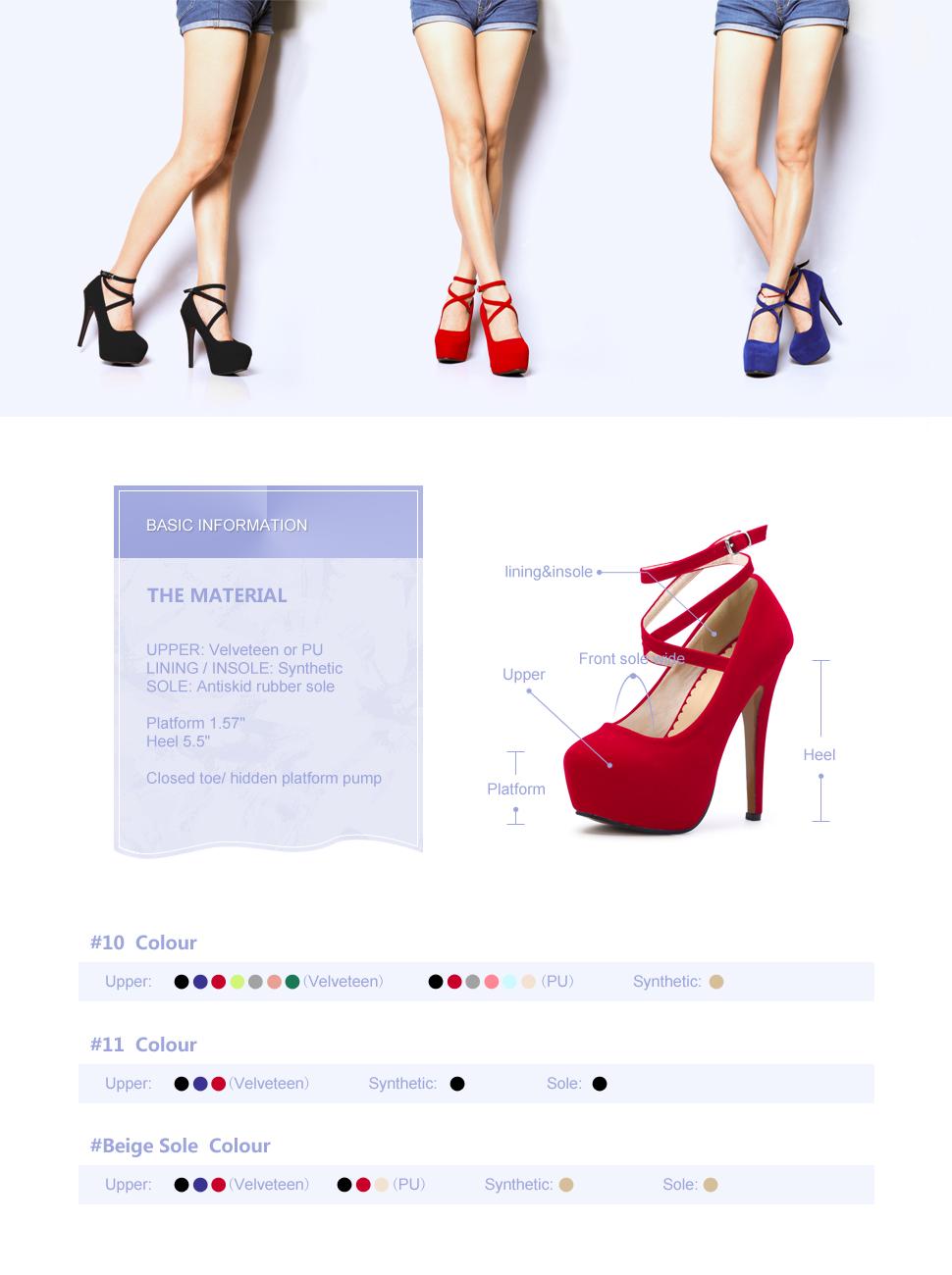 d95cac475fc7ad OCHENTA Femme Escarpins Bride Cheville Talon Aiguille Plateforme Epais  Fermeture Lacets Chaussures Club Soiree