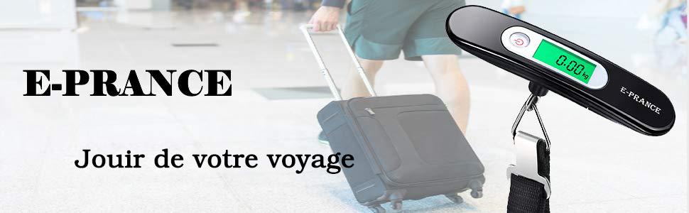 E-PRANCE Pèse Bagage Electronique Pèse Valise de Voyage Balance Portable Numérique avec Croche