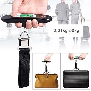 E-PRANCE Pèse Bagage Electronique Pèse Valise de Voyage Balance Portable Numérique