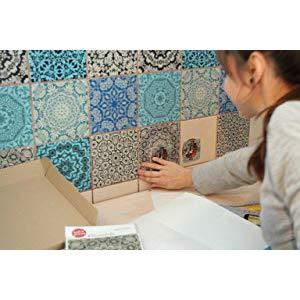 Mosaikfliesen als Bordüre, Punktuell oder Vollflächig - Wandfliesen mit Klebfolien neu gestalten