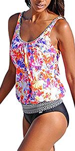 AidShunn Femme Maillot de Bain Tissu Haute R/ésistance 1 Pi/èce Coupe Shorty pour Natation