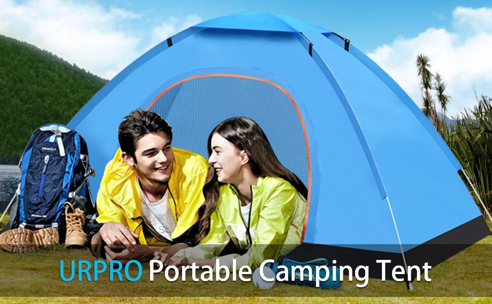 Urpro - Tienda de campaña de camping automática, ligera, resistente al agua, resistente al viento, protección UV, perfecta para playa, al aire libre, ...