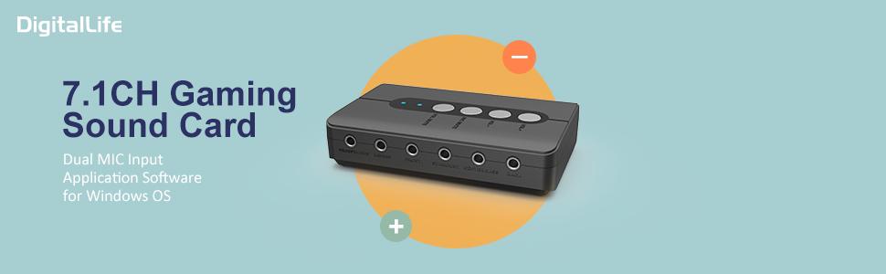 Adaptateur Audio USB avec SPDIF in//Out et 2 MIC pour PC Son Surround pour syst/ème st/ér/éo 7.1//5.1//2.1 DigitalLife Carte Son Externe 7.1