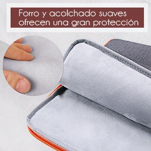 forro suave y acolchado grueso ofrece más protección