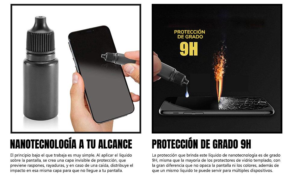 186500aeed9 Sonolife - Nano Protector Líquido para Pantalla de Celular Nivel 9H ...