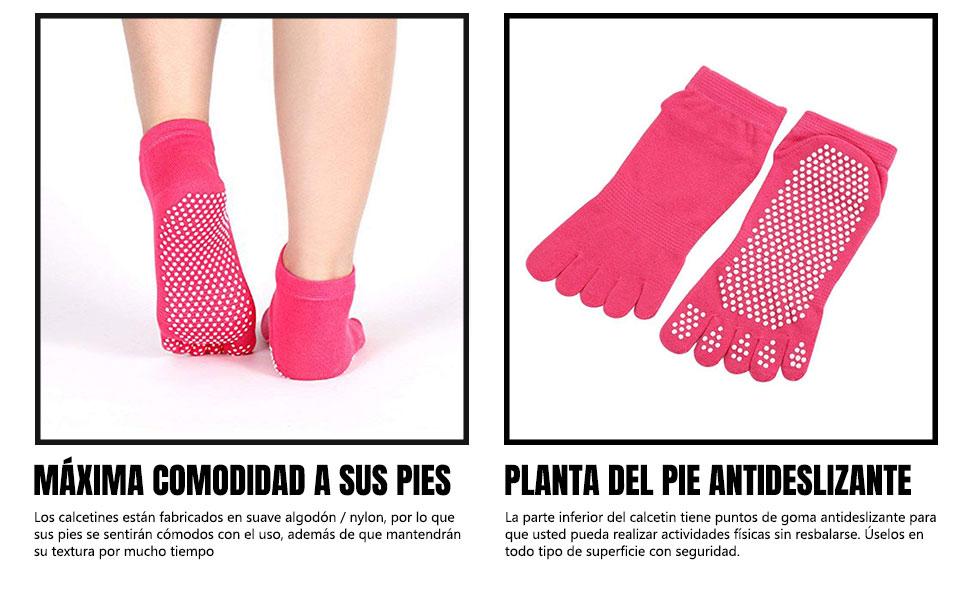 Sonolife - Calcetines Antiderrapantes para Yoga con Separación de ...