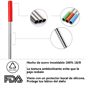 Paja de acero inoxidable