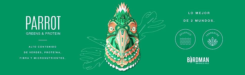 Parrot Greens And Protein, Lo mejor de Dos Mundos