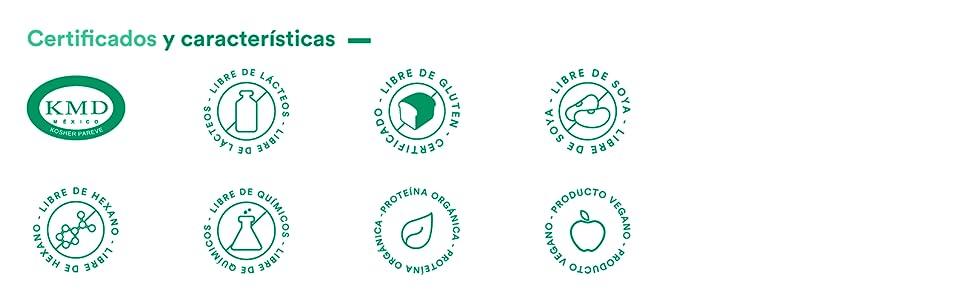 Certificados y Características de Parrot Greens and Protein