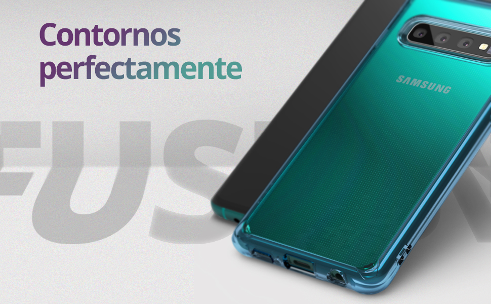 Ringke Fusion Diseñado para Funda Galaxy S10 Plus Transparente PC [Tecnología Matriz Puntos