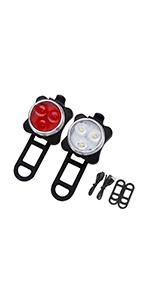 Conjunto de luces de bicicleta LED