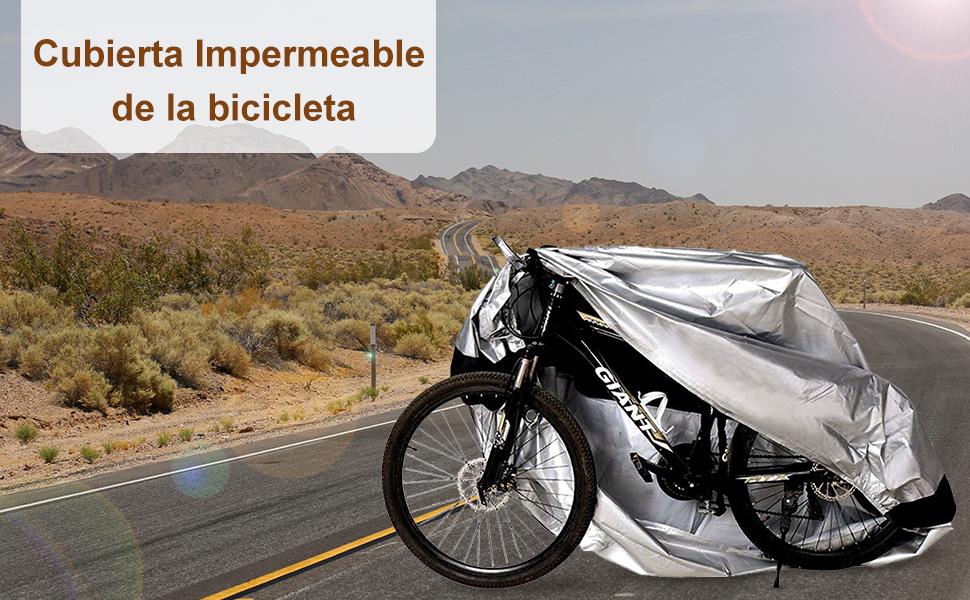 Cubierta de bicicleta impermeable