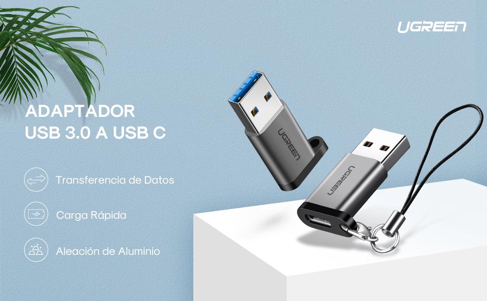UGREEN Adaptador USB 3.0 a USB C, USB 3.1 Tipo C a USB 3.0 Tipo A Hembra a Macho para SanDisk Extreme 900, Seagate Innov8, Google Pixel, Pixel 2, Pixel C XL, Lumia 950, Nexus 5X 6P 9781375a 87d3 4f7b a82a 88b4798aa4d3