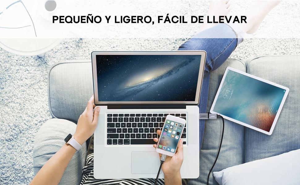 UGREEN Adaptador USB 3.0 a USB C, USB 3.1 Tipo C a USB 3.0 Tipo A Hembra a Macho para SanDisk Extreme 900, Seagate Innov8, Google Pixel, Pixel 2, Pixel C XL, Lumia 950, Nexus 5X 6P b2e726cf 6dec 404c 94bc 562dbef8a5a8