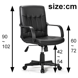 small office chair,medium back,desk,computer chair,leather chair,chair with armrests,home furniture