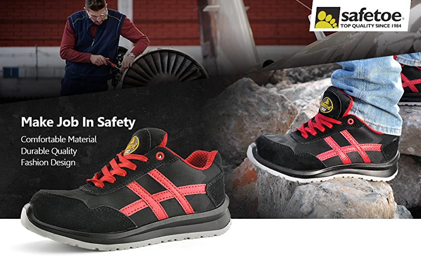 LADIES WOMENS LIGHTWEIGHT COMPOSITE NON METAL TOE CAP SAFETY WORK SHOES TRAINERS