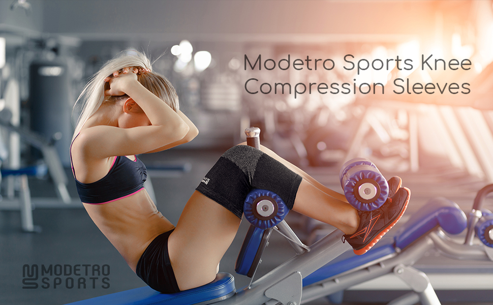 83a7e5f625 MODETRO SPORTS KNEE COMPRESSION SLEEVES. Don't Brace Yourself, Let Modetro  Sports Lend You Some Support!