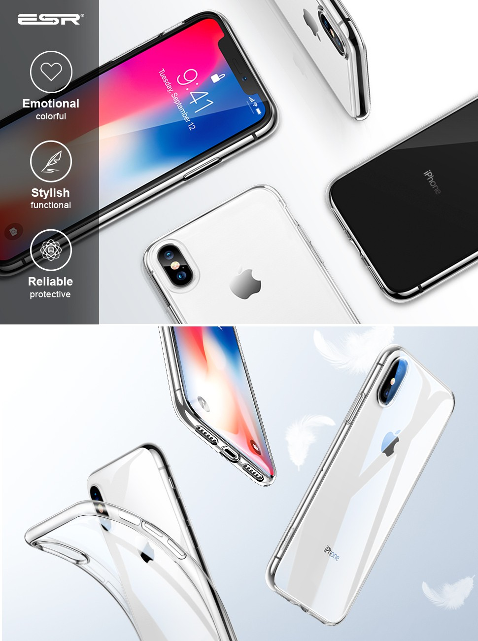 iphone 5 amazon esr iphone x transparent soft silicone tpu gel 10950