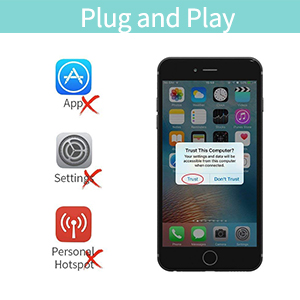 MPIO HDMI Adapter for iPhone, iPhone to HDMI Cable, 1080P Digital AV  Adapter HDTV Cable for iPhone iPad iPod Touch (Compatible with IOS 12  Before &