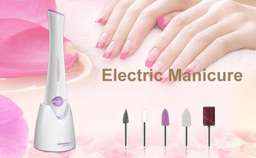 ecfca0fb1e9 Electric Manicure   Pedicure Nail File Set (Purple)