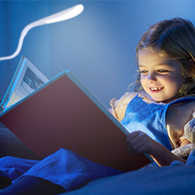 Reading with Clip Light