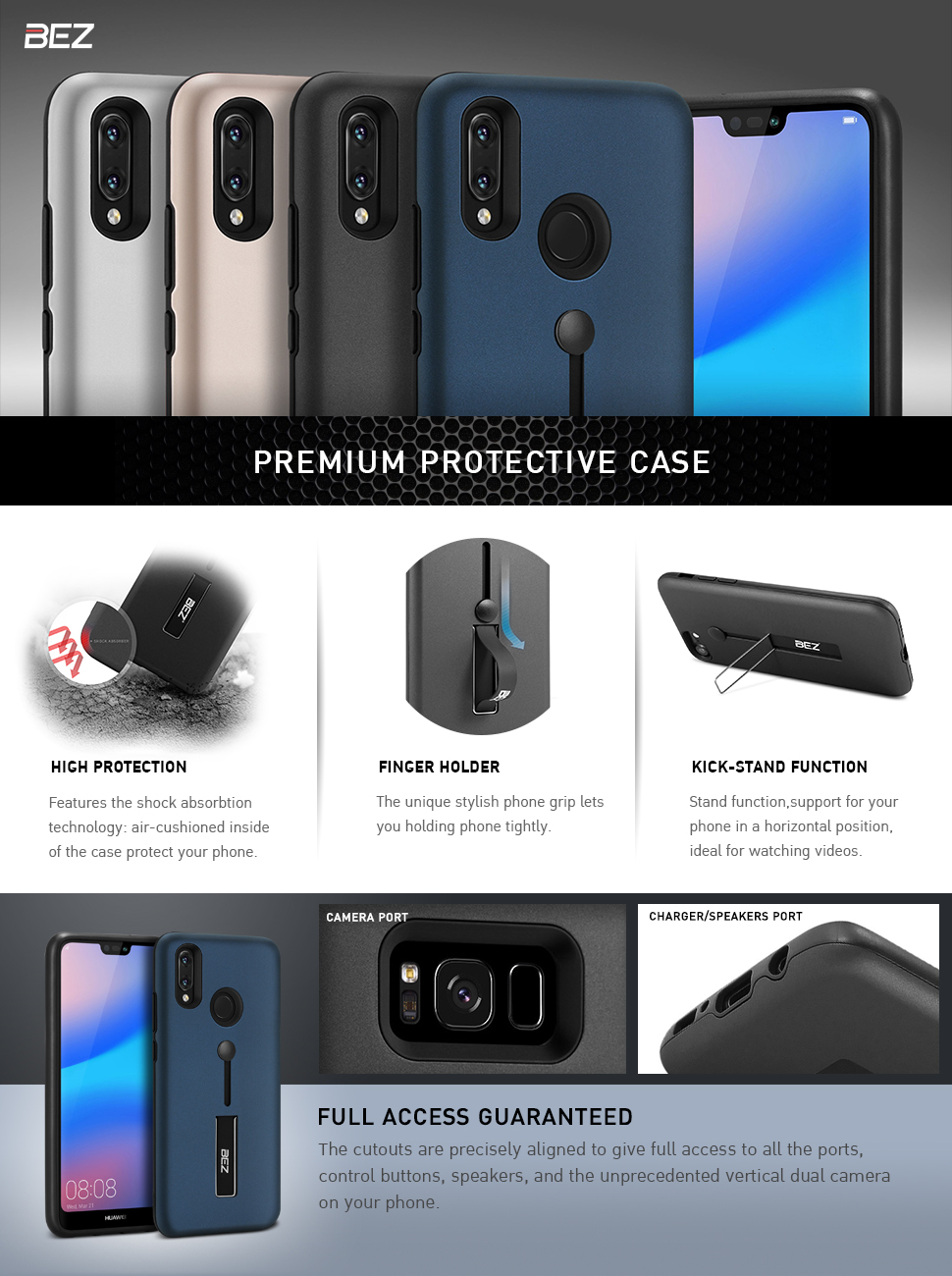Insten For iPhone Lite Waterproof Cover holster Case with Stand