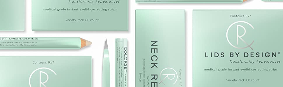 Contours Rx Lids By Design Eyelid Correcting Strips Set Of 80 6mm