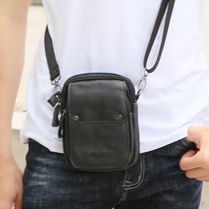 SPAHER Mens Genuine Leather Waist Bag Small Cross Body Phone Bag Messenger  Shoulder Holsters Handbag Mobile Phone Case Purse Belt Pouch Money ... 73cf0474dbf0c