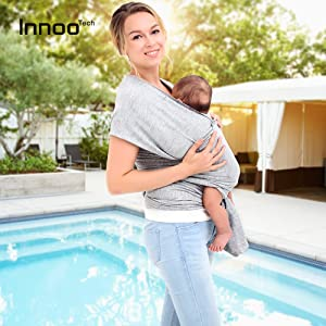 e9a7802157d Versatile and Comfortable Innoo Tech Baby Wrap - Nice Baby Wrap -Trusted By  Moms - Tested and Certified to CEN TR 16512-2015