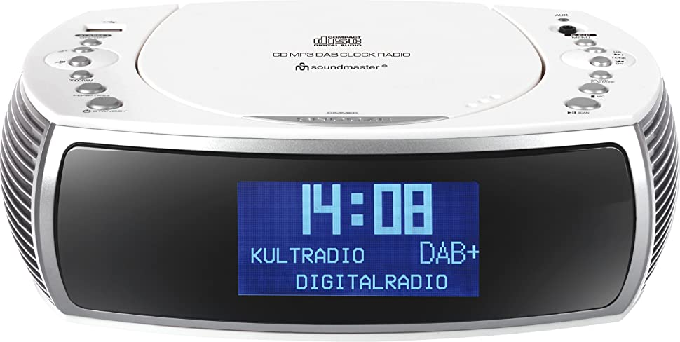 soundmaster urd470 fm dab clock radio cd player. Black Bedroom Furniture Sets. Home Design Ideas