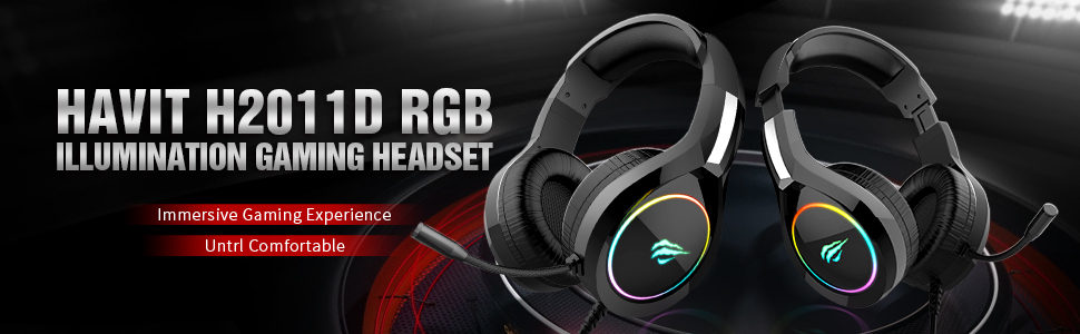 havit USB Wired PC Gaming Headset with