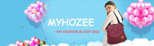 Myhozee Canvas Handbag Shoulder Bag