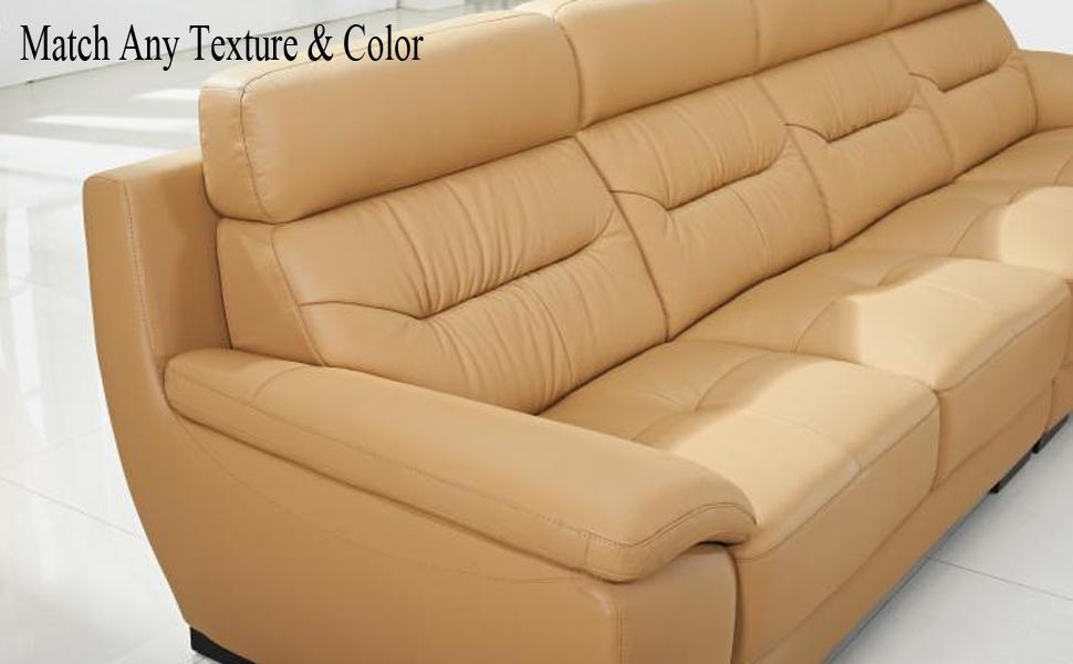 Moonvvin Kit de reparación de vinilo de piel líquida para retoques de coches y sofás con kit de restauración, para restaurar el sofá, el asiento del ...