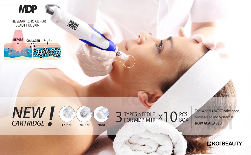 Derma Pen Titanium Auto Electric Microneedle Derma Roller Pen Cartridges  Wrinkles Stretch Marks Acne Scar Hair Loss Dermapen 0 25-2 0mm for Facial &