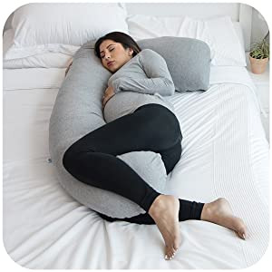 pregnancy pillow body sleep trimester bed align spine rest baby feed support happy comfort bump