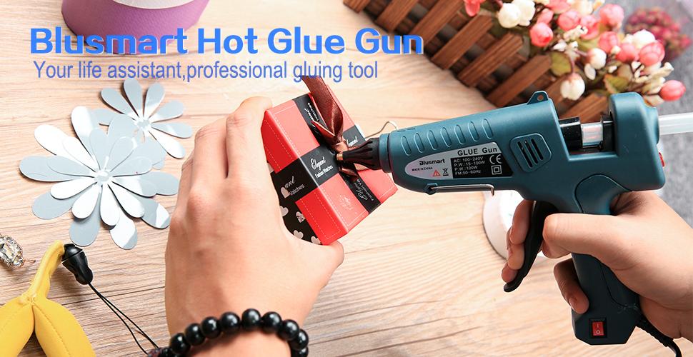 Hot Glue Gun, Blusmart 100W Full Size HIgh Temp Melt Glue