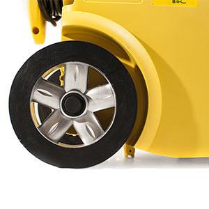 Power washer heavy duty travel wheels