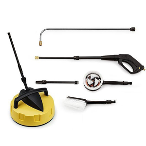 Patio cleaner, gutter lance, gun, turbo wand, fixed brush and rotary brush ideal for car cleaning