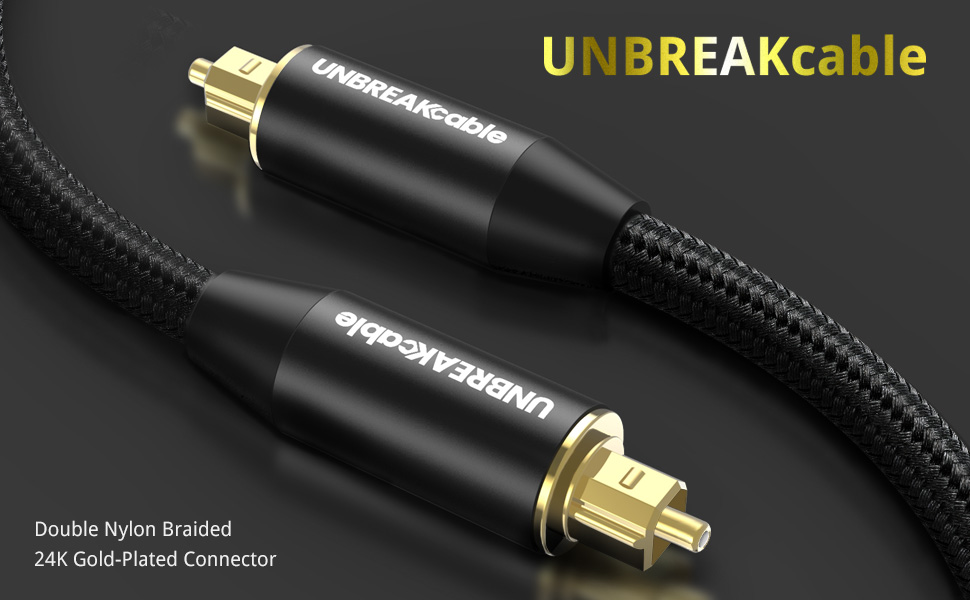 UNBREAKcable Digital Optical Audio Cable 2M Optical cable optical audio cable toslink optical lead